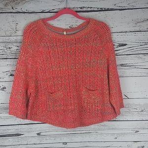 Moth multicolored neon knit sweater size s…